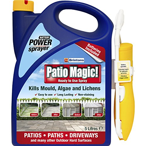Patio Magic! Power Sprayer: Ideal for Patios, Paths and Driveways (Kills Algae and Lichens), 5 Litres