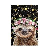 木製パズル Sloth Sunfllower Crown 1000 ピース ジグソーパズル 遊び 雰囲気 減圧 おもちゃ 漫画 壁飾り 学生 子供 大人 絵画 贈り物