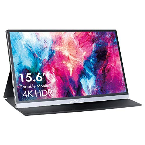 """Dragon Touch S1 Pro 4K Portable Monitor, 15.6"""" IPS HDR USB-C Gaming Monitor, 100% sRGB FreeSync with Speakers Mini HDMI for Xbox PS4 Nintendo Switch Laptop PC Phone Mac Surface, VESA Compatible"""