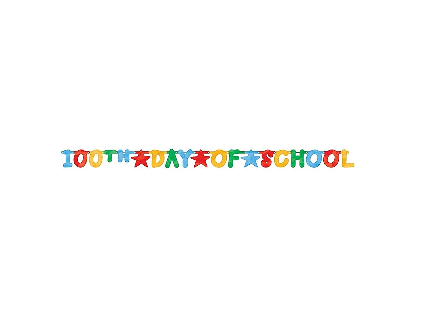 100th Day of School large foil letter banner