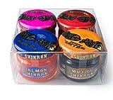 Pack 4 x 25 g Mujjól Shikrán Negro Rojo Anchoa Salmón