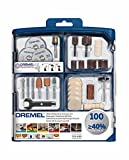 Dremel 723 EZ SpeedClic Multi Purpose Tool Accessory Kit for Rotary Tools - 100 Accessories for Cutting, Carving, Sanding, Cleaning, Grinding, Polishing, Sharpening in Convenient Tool Box