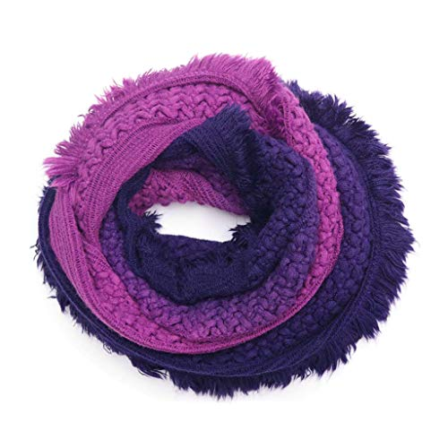 luosh vrouwen oneindigheid sjaal retro zachte etnische golf Snood Wrap sjaals haak gebreide dikker lus wraps nek Warmer