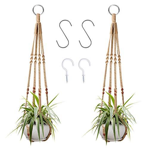 2 Pcs Plant Hangers Hanging Plant Holder for Indoor Outdoor Decor Macrame...
