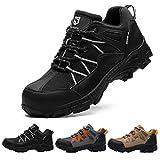 SUADEX Zapatos de Seguridad Mujer Hombre Zapatos de Trabajo Anti-presión y Anti-pinchazos Ligeras Industriales Transpirables,Negro,42 EU