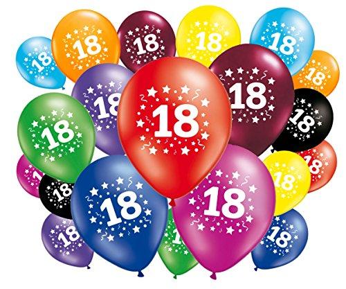 FABSUD Ballons Anniversaire 18 Ans - Lot de 20 Ballons 18