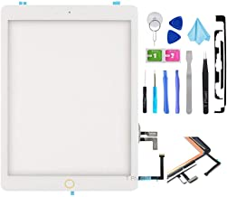 T Phael White Digitizer Repair Kit for 2017 iPad 9.7(A1822, A1823) Touch Screen Digitizer Replacement with Home Button + Tools Kit + PreInstalled Adhesive