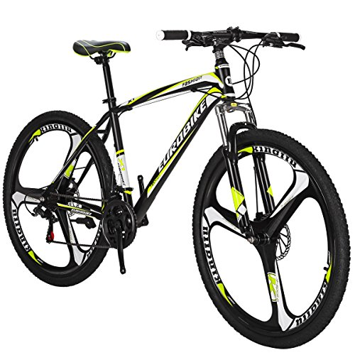 Moutain Bike TSMX1 21 Speed MTB 27.5 Inches Wheels Dual Suspension Mountan Bicycle (K-Yellow)