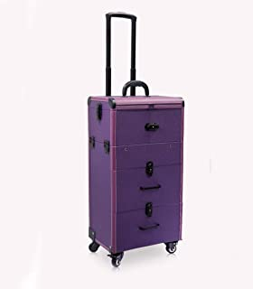 Purple Trolley Cosmetic Case Large Capacity Multi-Layer Multi-Layer Beauty Nail Toolbox