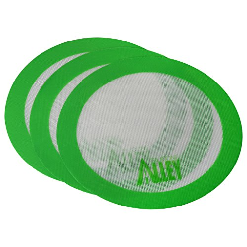 Silicone Alley, 3 Non-stick Mat Pad/Silicone Rolling Baking Pastry Mat Large Round 9.5' Green