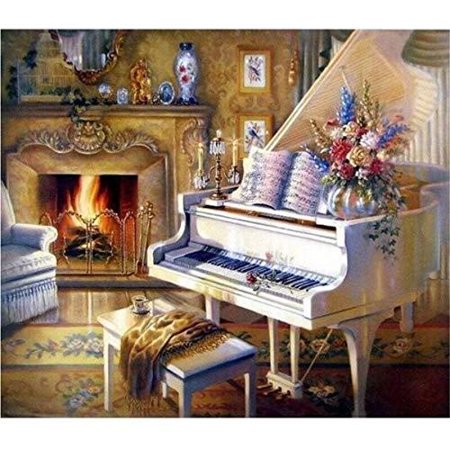LIZELUO Puzzle 1000 Teile DIY Holz Puzzle Weißes Klavier Freizeit Creative Kreuzworträtsel Spiel Kind Puzzle Spielzeug Geburtstag Festival Einzigartiges Geschenk