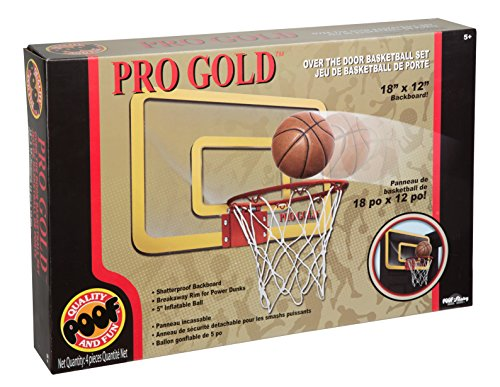 POOF Pro Gold Over The Door Basketball Hoop