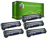 Printing Pleasure Compatible CF244A 44A Cartucho de tóner para HP Laserjet Pro M15a M15w M16a M16w | MFP M28a M28w M29a M29w - Negro, Alta Capacidad