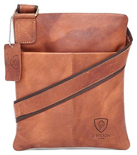 100 % echtes Vintage-Crunch-Leder, handgefertigt, für Herren, Umhängetasche, Arbeit