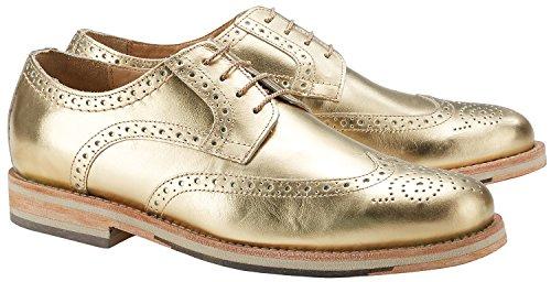 Wellensteyn Schuhe Patterson Vintage poliertes Leder (45, Gold)