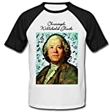 Photo de teesquare1st Men's Christoph Willibald Gluck Composer Tshirt Homme avec Motif/Tshirt Homme/Top Homme/Cadeau pour Les Hommes T-Shirt T-Shirt Size XXXLarge