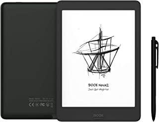 """BOOX Nova2 7.8"""" E-reader, Tocco con Stilo, Luce Integrata, 3GB + 32GB, Android 9.0 E-ink, 3150mAh OTG Wi-Fi BT, Nero"""