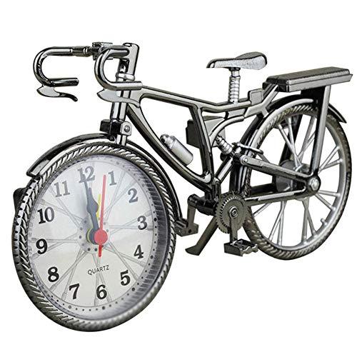 Isunday Vintage Bicicletta Forma Sveglia Divertente Bicicletta Orologio Ornamenti per Arredo Casa