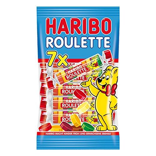 Haribo Roulette, Fruchtgummi, Gummibärchen, Weingummi, Süßigkeit, Tüte, 175g