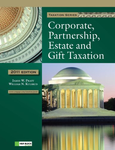 2011 Corporate, Partnership, Estate and Gift Taxation (with H&R BLOCK At Home™ Tax Preparation Software CD-ROM)