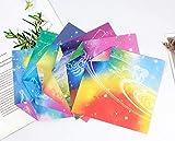 QINGTIAN Papel de Colores de Papá Noel,Papel Artesanal de Doble Cara,Papel de Origami Cuadrado,Kit de Papel de Origami para niños,para Manualidades de Bricolaje,Papel de Origami