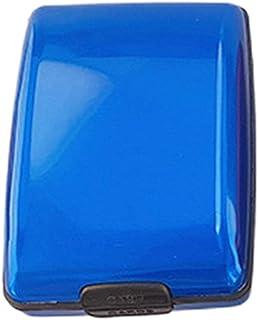 SZXCX Cartera de Seguridad de Aluminio Resistente y Ligera Multifuncional de Estilo Simple RFID Azul