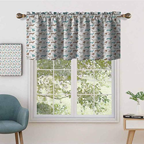 Hiiiman Sunshine Blockout Valance Curtain Reindeer Silhouettes with Writings Grunge Inspirations Christmas, Set of 2, 54'x36' for Indoor Living Dining Room
