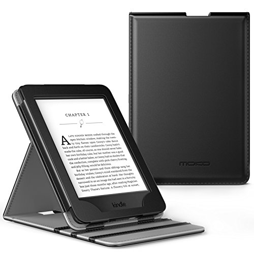 MoKo Kindle Paperwhite Funda - Premium Vertical Flip Smart Cover Case con Auto-Sueño / Estela para Amazon All-New Kindle Paperwhite (Compatible con 2012, 2013, 2015 y 2016), No es compatible para All-new Paperwhite 10th generation 2018 Negro
