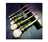 Utensilios y accesorios Sets de brochas Beauty Tools_5 Makeup Brush Set Gradient Color Super Soft Brush Set Beauty Makeup Tools Polvos sueltos, cabello rojo y dorado blanco [Color Box]
