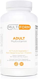 Multiform Vitamins Adult Multivitamin - Daily Multivitamin with Whole Foods (180 Pills)