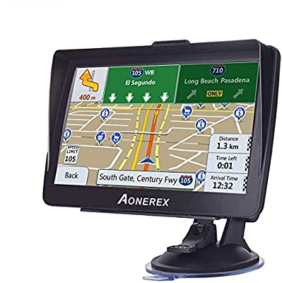 GPS Navigation for Car, 7-inch High-Definition Touch Screen, 8GB 256MB Satellite Navigation with Live Voice Guide Free Lifetime Map Updates, Suitable for All Types of Vehicles