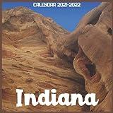 Indiana Calendar 2021-2022: April 2021 Through December 2022 Square Photo Book Monthly Planner Indiana small calendar