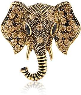 SODIAL Accessoires de Vetement charmants Broche en Strass Broche en Email Bijoux de Mode Forme danimal delephant Vert