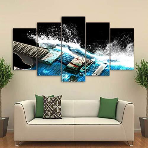 Home Decoration Artwork Print Schilderij Mode Poster Canvas Blauw Gitaar Muurfoto Kunst voor Woonkamer Frameless 40 * 60 40 * 80 40 * 100
