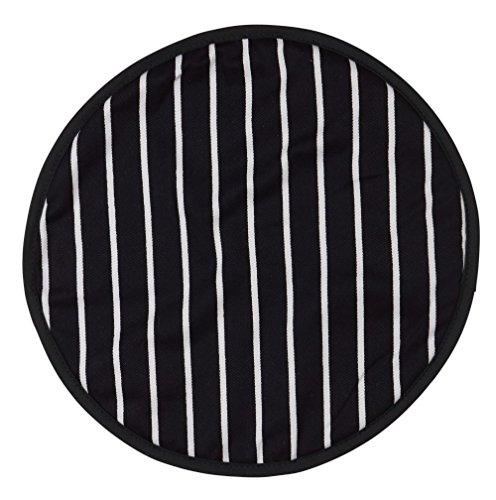 Dexam Rushbrookes Slagers Streep Koken/Chefs Pad Kookplaat Cover, Navy-16160009, 100Percent_Katoen, Blauw, 37cm