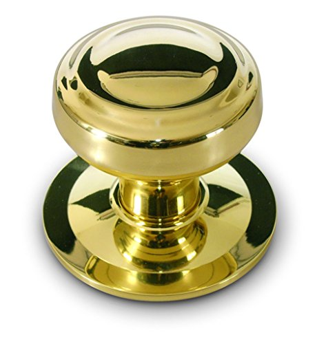 Anzapack 812459H - Pomello per porta di ingresso, tornito, in ottone, colore: dorato