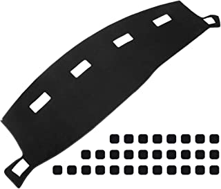 Qiilu Dashboard Cover Carpet Dash Pad for Dodge RAM 1500 2500 3500 2002 2003 2004 2005 2006 2007 2008
