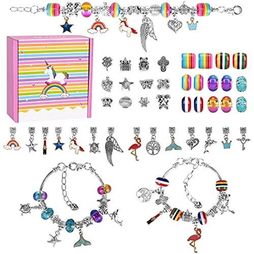 Kit para Hacer Pulseras para Niñas, Kit de Fabricación de Joyas para Niñas, Regalo de niña Kit Artesanía DIY Pulsera para Niñas al Año Nuevo, Cumpleaños, Navidad