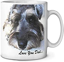Bestauseller Schnauzer Dog 'Love You Dad' Coffee Tea Mug Christmas Stocking Filler Gift Idea 11oz