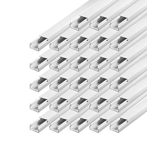 Kabelkanal schraubbar 15 x 10 mm PVC 28 m Installationskanal Wand und Decken Montage allzweck für aller Art von Kabel Haus Büro TV Lautsprecher Telefon Sat Internet ARLI