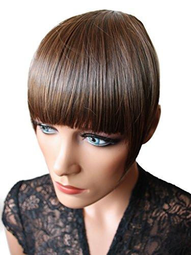 PRETTYSHOP Clip In Extension Haarverlängerung Pony Stirnfransen Haarteil Natürlich HF9-2
