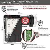 DUR-line +Ultra Octo LNB – 8 Teilnehmer schwarz – mit LTE-Filter, 8-Fach, digital mit Wetterschutz, Full HD, 4K - 8