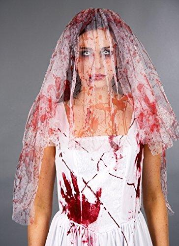 Festartikel Müller Kostüm Zubehör blutiger Brautschleier zu Halloween Horror Braut