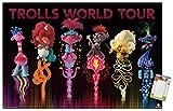Trends International DreamWorks Trolls 2 - Group Wall Poster, 22.375' x 34', Poster & Mount Bundle
