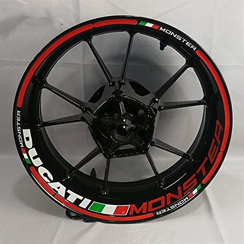 Aplicable a Ducati 796/696/795/821/848/899/899/1200/1199/1299 Etiqueta engomada Reflectante a Prueba de Agua de Monster Motorcycle (Color : AQL-C19-03W-MONSTER)