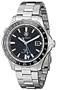 TAG Heuer Men's WAK211A.BA0830 Ceramic Calibre Analog Display Swiss Automatic Silver Watch image