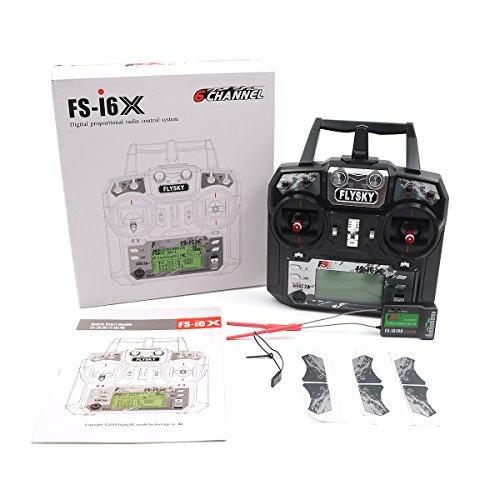 RONSHIN Transmisor Flysky FS-i6X i6X 10CH 2.4GHz AFHDS 2A RC con Receptor FS-iA10B para FPV RC Drone