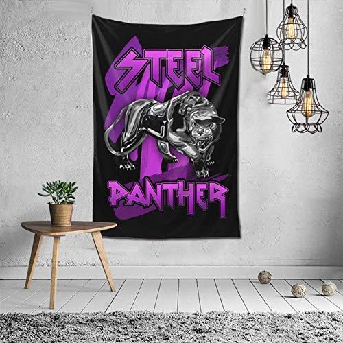 Tapiz de Banda de música de Pantera de Acero, tapices artísticos para Colgar en la Pared, decoración para Dormitorio, Sala de Estar, Dormitorio