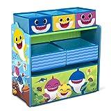 Baby Shark Design & Store 6 Bin Toy Storage Organizer by Delta Children