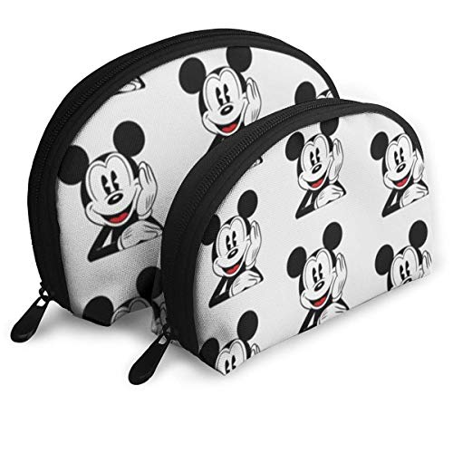 Mick-EY Mouse Makeup Bag Travel Bags Small Shell Bag Portable Toiletry Clutch Pouch 2Pcs
